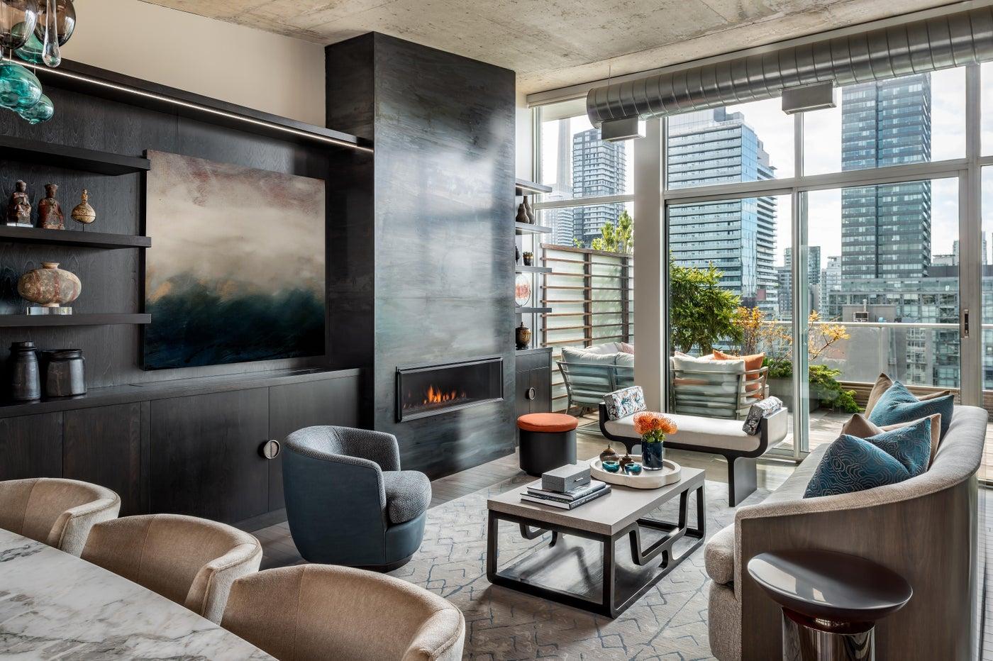 Toronto Penthouse Living Room