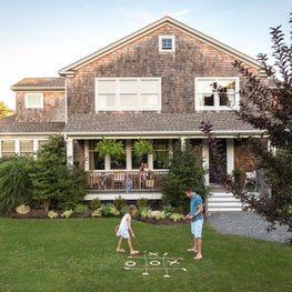 Front Porch in classic Hampton's shingle style weekend house