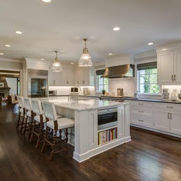 Transitional Kitchen - French Normandy Tudor