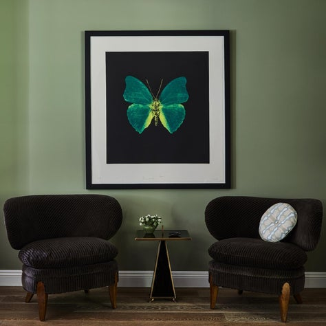 Pair of Chairs with Art