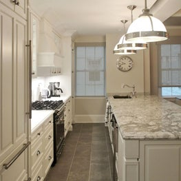 Beautiful Prewar Kitchen Transformation with Custom Island & Cabinets