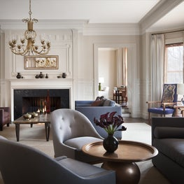 Sitting Room of Boston Brownstone