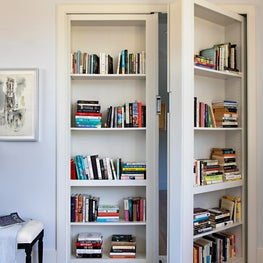 Secret bookcase leading to home office