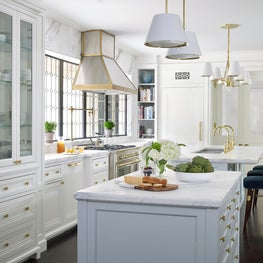 Bright Kitchen with Urban Electric Lighting