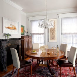 Beacon Hill Townhouse, Dining room with contemporary and period style