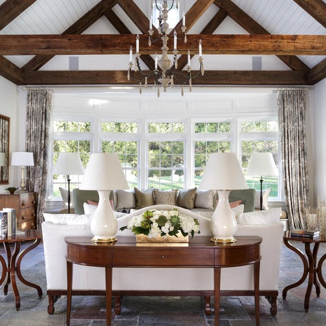 Dramatic casual elegance,modern, natural,reclaimed beams