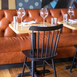 Restaurant Holmes - Architecture by MT Studio Architecture, Custom Mural by Greg Mike