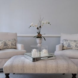 Master Sitting Area with Blue and White Details