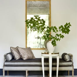 At home foyer settee