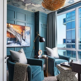 Chic and urban teal den.