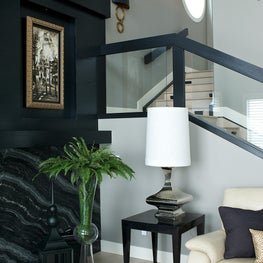 Steampunk Stairwell and Fireplace