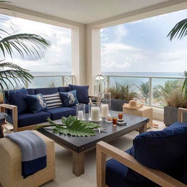 Coastal Outdoor Terrace in Florida