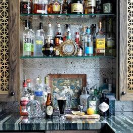 Irish themed home bar