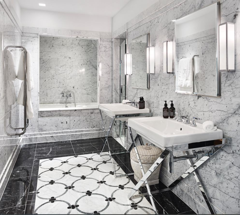 Luxurious Deco Inspired Master Bathroom
