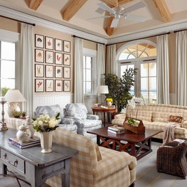 Traditional Coastal Family Room