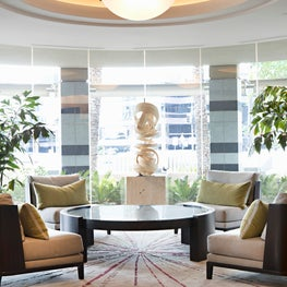 Seating Area in Lobby of Luxury High-Rise