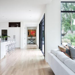 Linear shapes and long lines create beautiful sight lines in this St Paul home