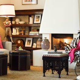 Spanish Style Den & Fireplace