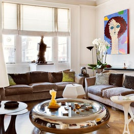 Eclectic Living Room with Modern Artwork