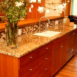 NW hills, Portland,OR: Kitchen, with custom solid cherry cabinetry.