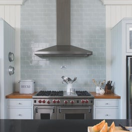 Kitchen Range at Luxe Barn, Falmouth
