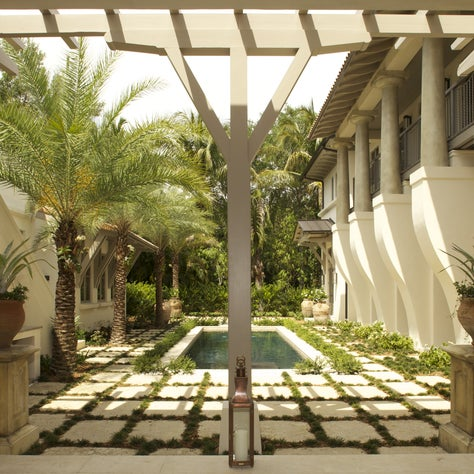 Principals' Personal Residence - Pool Courtyard-Luxe Mag Cover story Dec 2016