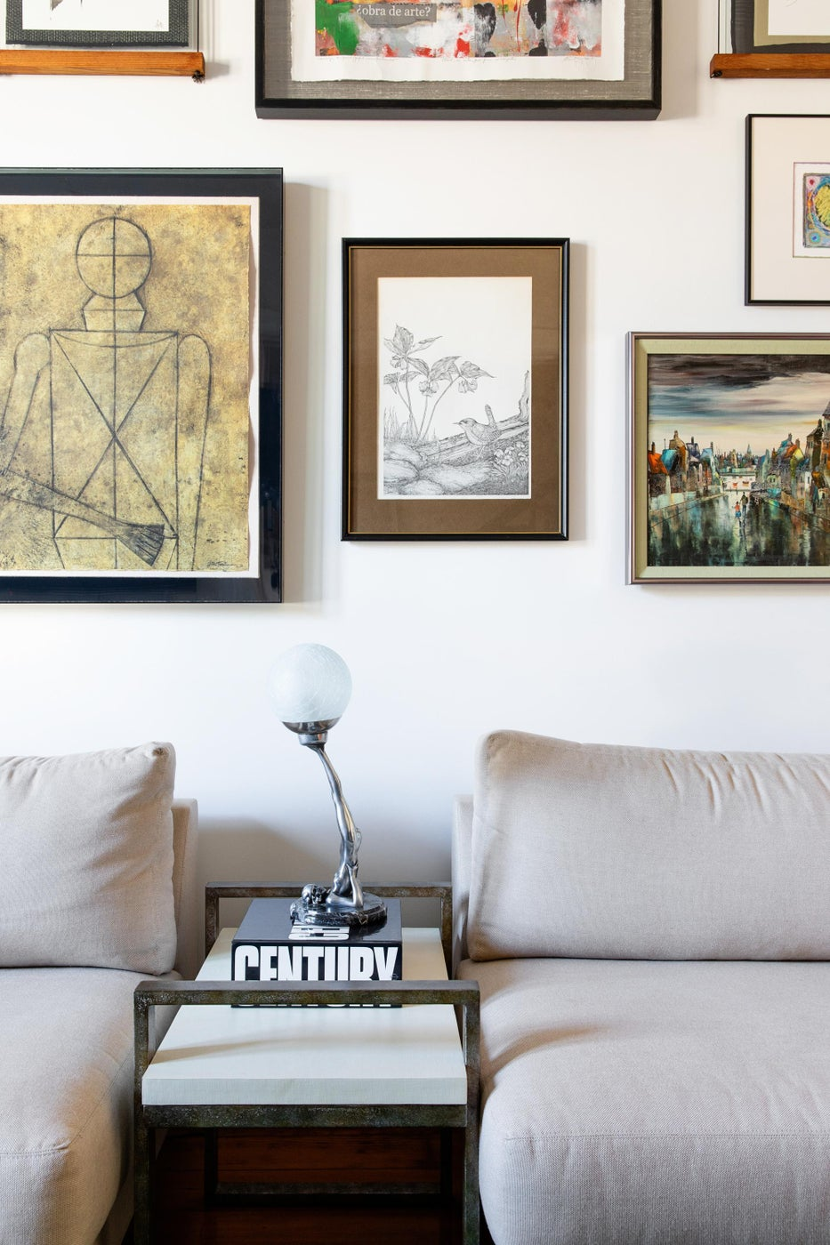 Layered and Collected Gallery Wall