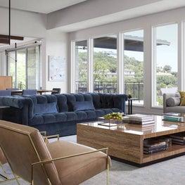 Open Modern Living Room - Westlake Hills Residence, Austin, TX