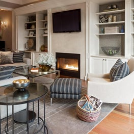 Toronto Family Room with Gas Fireplace