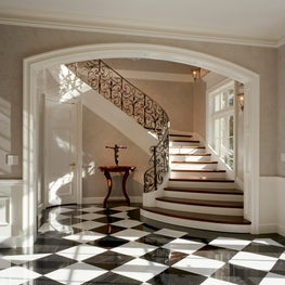 Waterfront French Normandy Entry Foyer