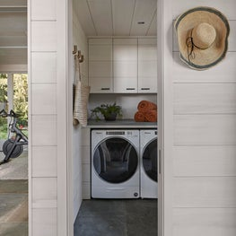 Swimming pools require lots of towels, don't forget about the Laundry Room.