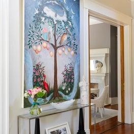 Foyer detail of original artwork by Rebecca Rebouche