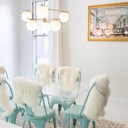 A Mint Green Dining Room
