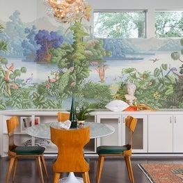 Tropical + Mid-Century Modern Dining Room