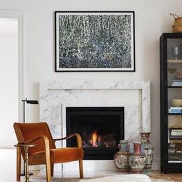 Atherton Estate Family Room Fireplace
