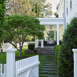 Entrance to a Porch in Southport, Connecticut