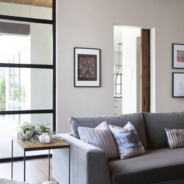 Transitional Family Friendly Media Room - Spanish Oaks Residence, Austin, TX