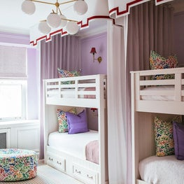 Girl's Double Bunk Bedroom