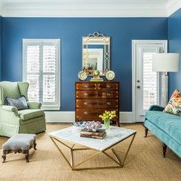 Five Points Sitting Room with Van Deusen Blue walls