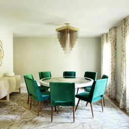 Dining Room - Custom Dining Table. lighting, credenza & rug