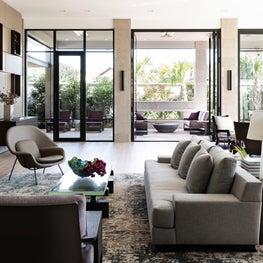 Modern Family Room with Views to Veranda