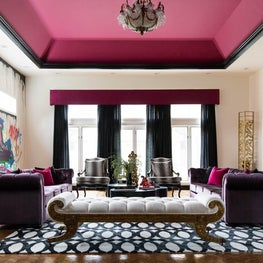 Pink Eclectic Living Room