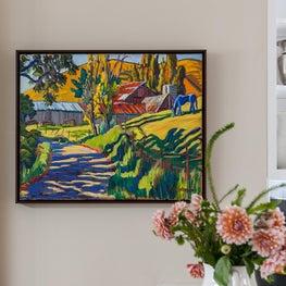 Framed Artwork in Atherton Residence II