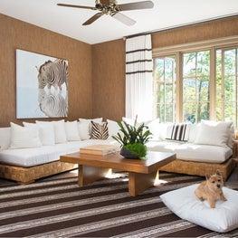 Warm modern sitting room