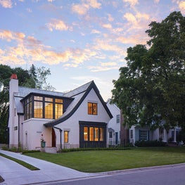 This Edina home is a blend of Highland Tudor-inspired and modern details