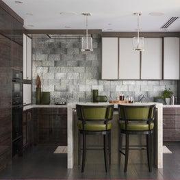 Boston Waterfront Penthouse Modern Kitchen: Urban Living