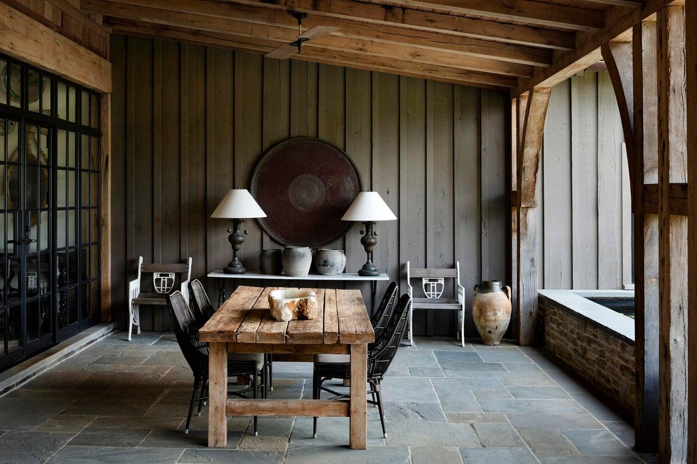Tudor House, outdoor room
