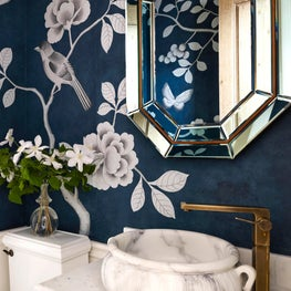 Chicago Townhouse Powder Room