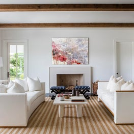 Hamptons Residence Living Room with neutral palette.