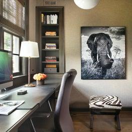 Main Floor office with custom desk